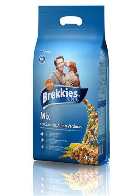 Brekkies Excel Dog Mix Fish - 4 Kg Köpek Maması